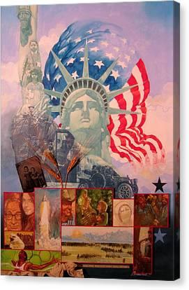 Lady Liberty Centennial Canvas Print