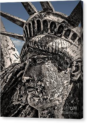 Lady Liberty Canvas Print by Danuta Bennett