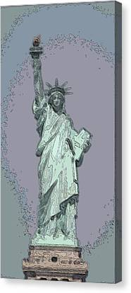 Lady Liberty Canvas Print by Mickey Hatt