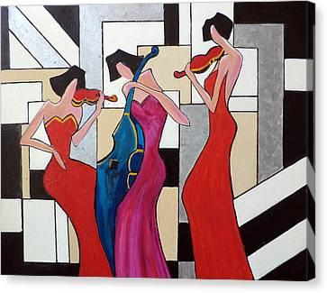 Lady Musicians Canvas Print