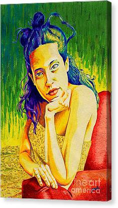 Lady N Colour Canvas Print by Jose Miguel Barrionuevo