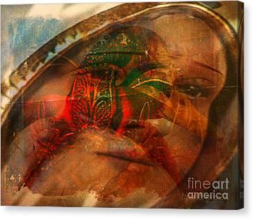 Lady Of Faith Canvas Print by Fania Simon