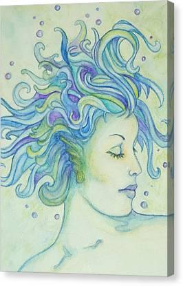 Lady Of The Lake Canvas Print by Jean LeBaron