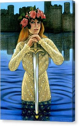 Canvas Print featuring the painting Lady Of The Lake by Sue Halstenberg