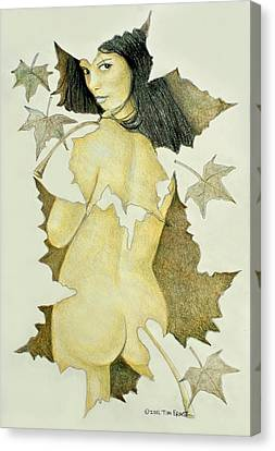 Lady Of The Leaf 4 Canvas Print by Tim Ernst