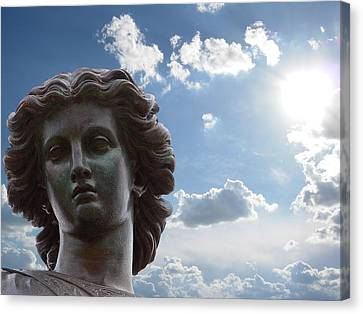 Lady Of The Waters Canvas Print by Sarah McKoy