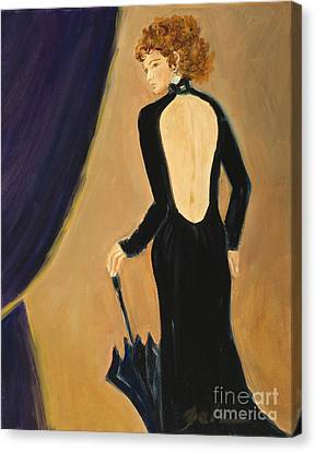 Lady On Stage Canvas Print