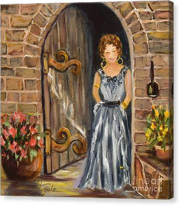 Lady Waiting Canvas Print