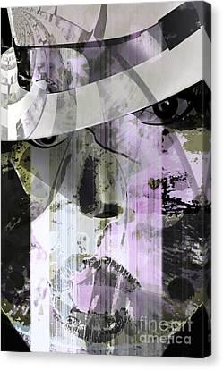 Lady Wears Hat Canvas Print by Fania Simon