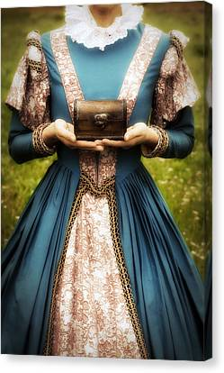 Lady With A Chest Canvas Print