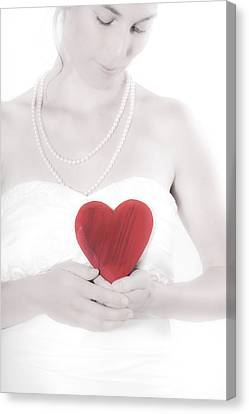 Lady With A Heart Canvas Print