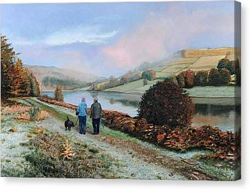 Hill District Canvas Print - Ladybower Reservoir - Derbyshire by Trevor Neal