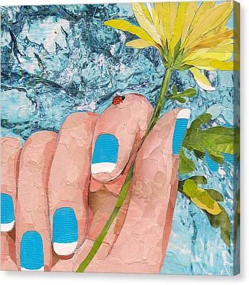Ladybug Canvas Print by Robin Birrell