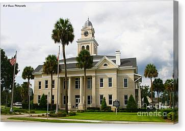 Lafayette County Courthouse Canvas Print by Barbara Bowen
