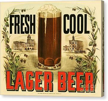 Lager Beer Canvas Print by Pg Reproductions