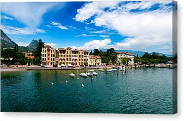 Lago Di Garda In Italy In Early Spring  Canvas Print by Ulrich Schade