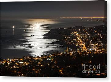 Laguna Beach Moonlight Canvas Print