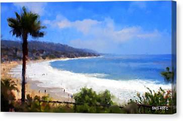 Laguna Beach Canvas Print by SM Shahrokni