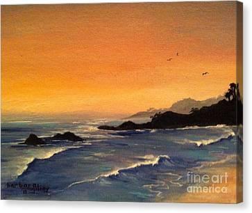 Laguna Sunset Canvas Print by Barbara Gilroy