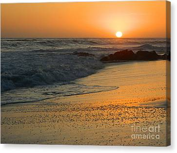 Canvas Print featuring the photograph Laguna Sunset by Everette McMahan jr
