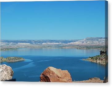 Canvas Print featuring the photograph Lake Abiquiu by William Wyckoff