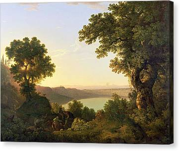 Lake Albano - Italy Canvas Print by Thomas Jones