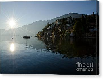 Lake And Sunlight Canvas Print by Mats Silvan