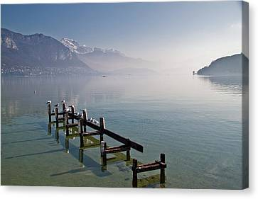 Lake Annecy (lac D'annecy) Canvas Print by Harri's Photography