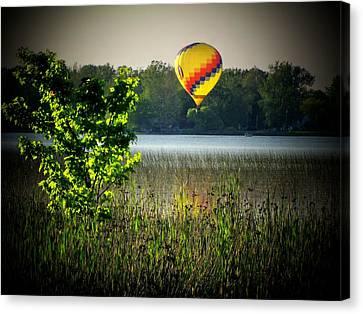 Lake Balloon Canvas Print by Michael L Kimble