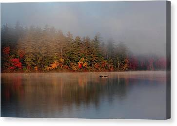 Canvas Print featuring the photograph Lake Chocorua Sunrise by Nancy De Flon