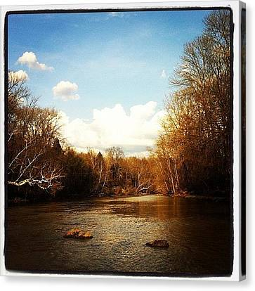 #lake #creek #nature #ohio Canvas Print by  Abril Andrade Griffith