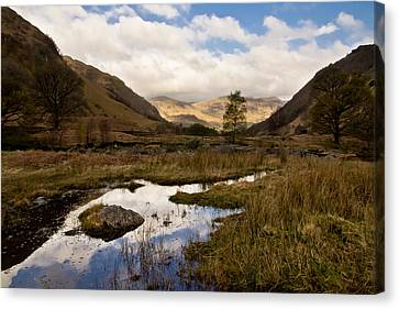 Canvas Print featuring the photograph Lake District Reflections by Justin Albrecht