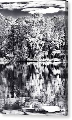 Lake Drama Canvas Print by John Rizzuto