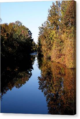 Lake Drummond Canal Canvas Print by Feva  Fotos