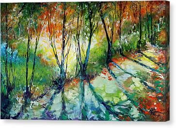 Lake Forest Hills Canvas Print by Marcia Baldwin