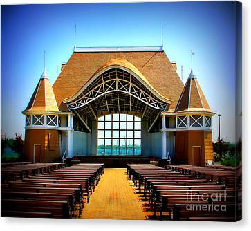 Lake Harriet Bandshell Canvas Print by Perry Webster