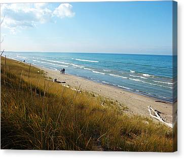 Canvas Print featuring the mixed media Lake Huron Shoreline by Bruce Ritchie