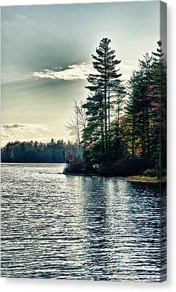 Lake In Nh Canvas Print by Edward Myers