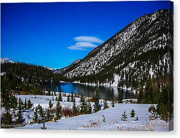Canvas Print featuring the photograph Lake In The Mountains by Shannon Harrington
