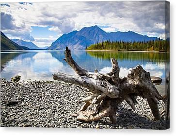 Lake Kathleen In Kluane National Park Canvas Print by Blake Kent