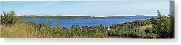 Inspiration Point Canvas Print - Lake Leelanau Panorama by Twenty Two North Photography
