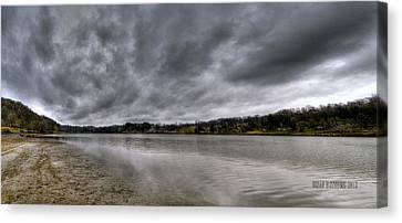 Canvas Print featuring the photograph Lake Logan Panorama by Brian Stevens