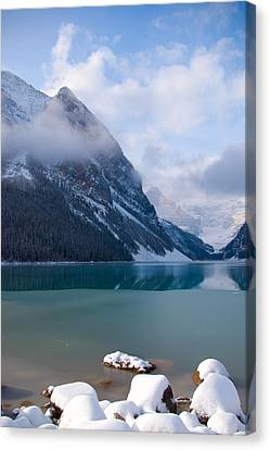 Lake Louise  Canada Canvas Print by Serene Maisey