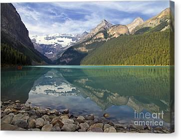 Lake Louise Splendour Canvas Print by Teresa Zieba