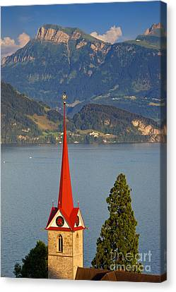 Lake Lucerne Canvas Print by Brian Jannsen