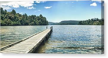 Lake Mapourika Panorama Canvas Print