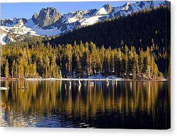 Lake Mary Reflections Canvas Print by Lynn Bauer