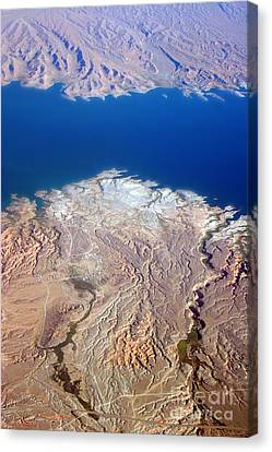 Lake Mead Nevada Aerial Canvas Print by James BO  Insogna