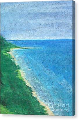 Lake Michigan Canvas Print by Lisa Dionne