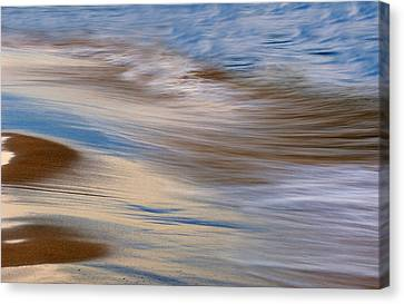 Lake Michigan Surf Canvas Print by Dean Pennala
